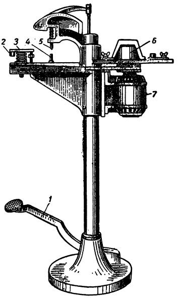 Станок для приклепки накладок к тормозным колодкам