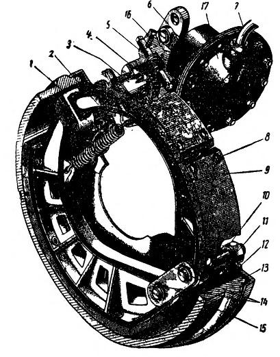 Тормозной механизм автомобиля ЗИС-150