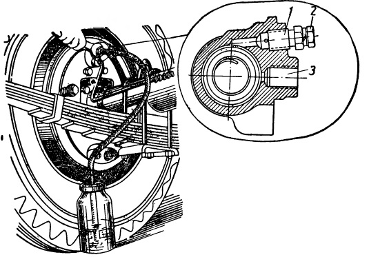 Удаление воздуха из тормозного привода