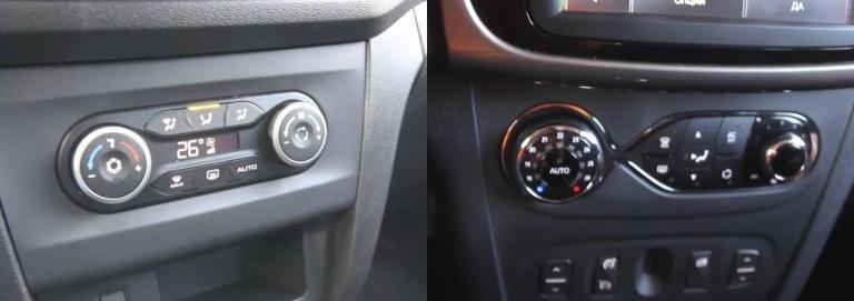 Управление климатом в Lada X-RAY и Renault Sandero Stepway